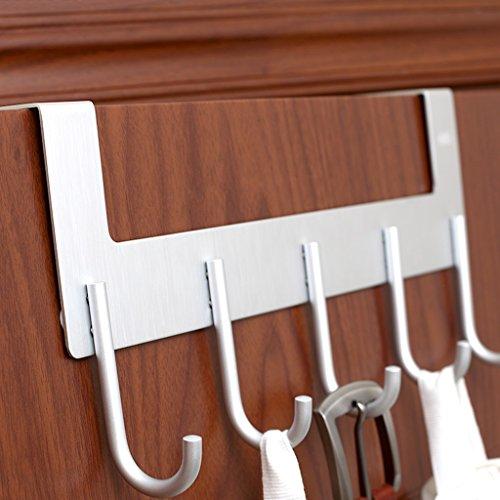Creative Hanger Vêtements Chapeau Support de porte Crochet en aluminium Forte portance Ne pas se faner Pas de rouille (Couleur : Silver)