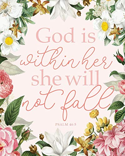 Christian Planner: God is Within Her She Will Not Fall Psalms 46:5, Monthly & Weekly, 12 Month Book with Grid Overview, Organizer Calendar with Weekly ... January - December 2020, Large Size 8x10)