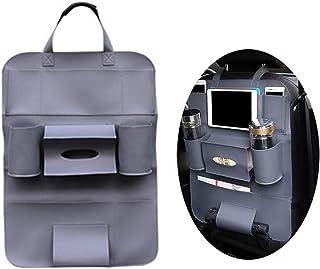 1 قطعة من جلد PU منظم المقعد الخلفي للسيارة حقيبة تعليق، حقيبة مقعد، حفظ، تزيين السيارة (رمادي)