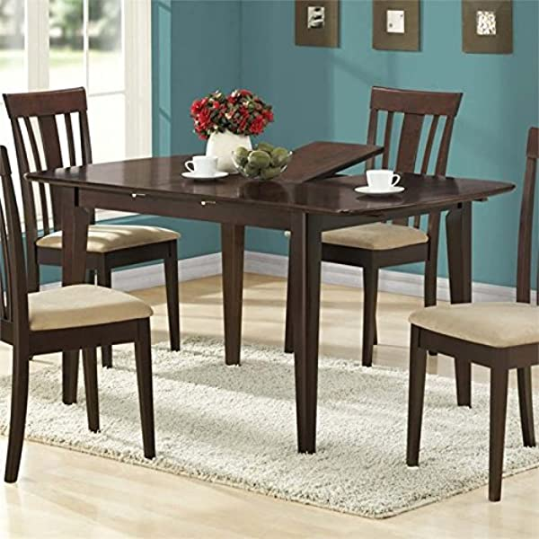 Pemberly Row Extendable Dining Table In Cappuccino