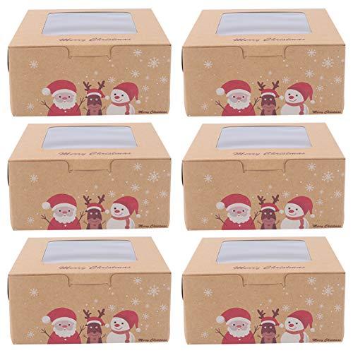 ABOOFAN Caja de La Magdalena de Navidad Postre para Hornear Caja de Embalaje Caja de Regalo