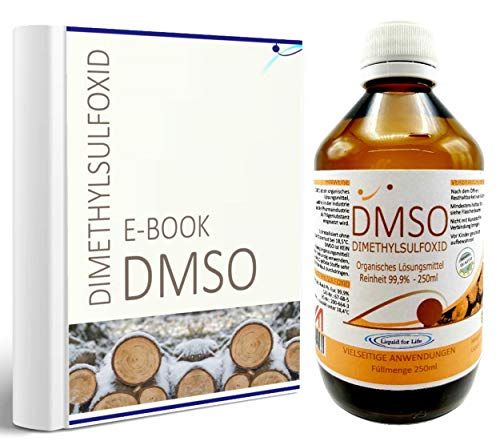 LIQUID FOR LIFE® - DMSO 250 ml 99,9% Reinheit Ph. Eur. - Dimethylsulfoxid pharmazeutische Reinheit in Braunglasflasche in DEUTSCHLAND hergestellt + RATGEBER