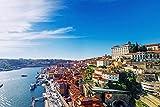 Porto City Skyline Art XXL Wandbild Kunstdruck Foto