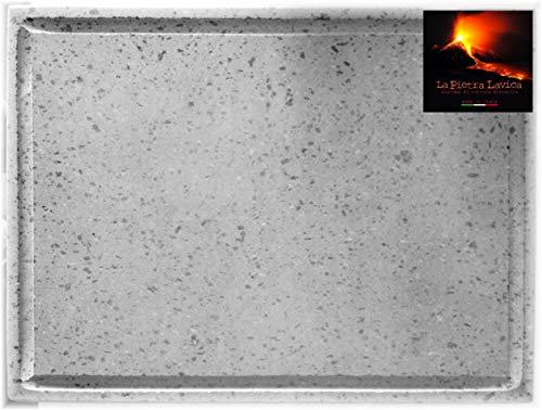 GRILLSTONE Grillplatte, Pizzaplatte Lava Maße 40 x 30 x 2 cm