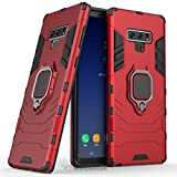 Cocomii Black Panther Armor Galaxy Note 9 Case, Slim Thin Matte Vertical & Horizontal Kickstand Ring Grip Reinforced Drop Protection Fashion Phone Case Bumper Cover for Samsung Galaxy Note 9 (Red)