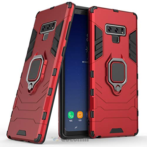 Cocomii Black Panther Ring Galaxy Note 9 Case, Slim Thin Matte Vertical & Horizontal Kickstand Ring Grip Reinforced Drop Protection Fashion Phone Case Bumper Cover for Samsung Galaxy Note 9 (Red)