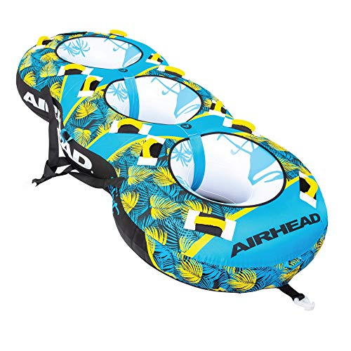 Airhead Blast 3 | 3 Rider Towable Tube for Boating, Blue