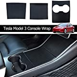 ThinSGO WJM Tesla Model 3 Model Y Center Console Wrap Center Console Plastic ABS Cover for Tesla Model 3 Model Y (Carbon Fiber)