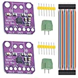 DAOKI 2PCS MAX98357 Audio Power Amplifier Module I2S Class D Filterless Audio Amplifiers Board for Arduino, Raspberry Pi, Esp32 with Dupont Cable