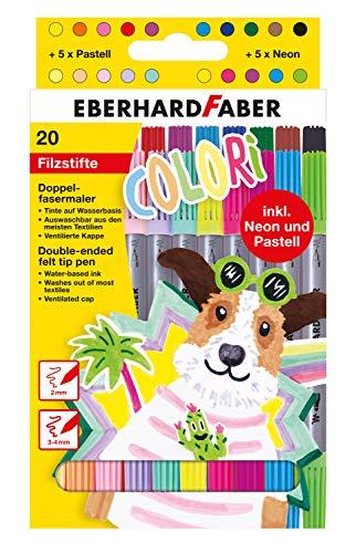 Eberhard Faber 550020 Colori - Rotuladores en 20 colores bri