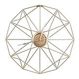 Feibrand Reloj de Pared Decorativo Grand Silencioso Modernos Metal Hierro Dorado 50 centímetros