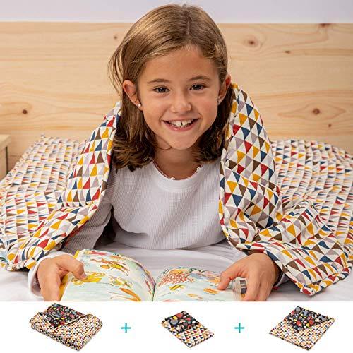 BANBALOO-Schwere Decke für Kinder, beidseitig verwendbar Kit bestehend aus einer Decke mit höherem Gewicht, die sich an den Körper anpasst. Bettdecke mit sensorischer Schwere für einen besseren Schlaf