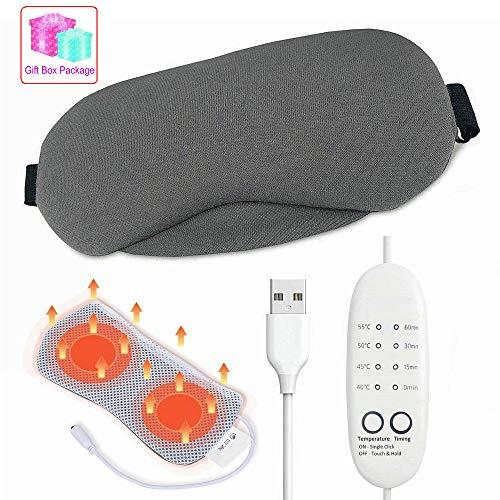 Beheizte Augenmasken, USB Hot Steam Schlaf Augenmaske zu entlasten Geschwollene Augen Dunkle Kreis Augen trockene Augen Blepharitis Stress müde Augen Temperaturregelung Timing einstellbar