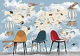 Oedim Fotomural Infantil Vinilo para Pared Continentes y Animales | Mural | Fotomural Infantil Vinilo Decorativo | 100 x 70 cm | Decoración comedores, Salones, Habitaciones