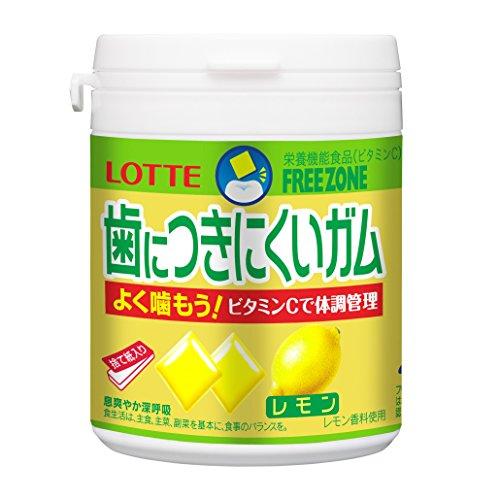 ロッテ 歯につきにくいガム(レモン)ボトル 138g
