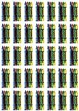 Craytastic! Crayons 36 x 4 paquetes – Bulk, Premium en envoltorio de celofán – Seguridad probada y compatible con ASTM D-4236 – Gran recuerdo de fiesta