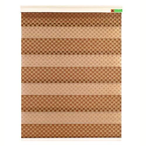LIQICAI Doppelrollo Doppelrollos Für Zu Hause Ideal Für Schlafzimmer, Küche, Wohnzimmer, Braun (Color : A, Size : 150x220cm)