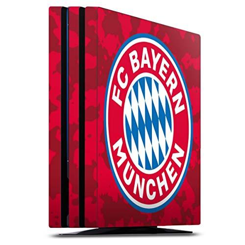 DeinDesign Skin kompatibel mit Sony Playstation 4 PS4 Pro Folie Sticker FC Bayern München Camouflage FCB