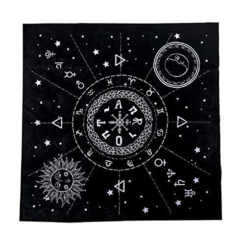 ShanTrip タロットクロス 占いマット ベルベット 大判 星座