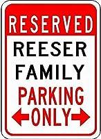 金属サインreeserファミリーパーキングノベルティスズストリートサイン