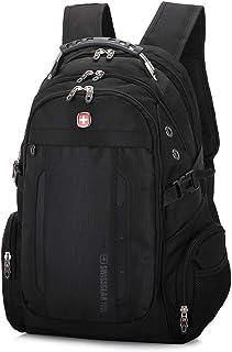 حقيبة ظهر من سويس ميليتاري ارمي متعددة الوظائف بحجم 15 انش مناسبة للاب توب، شاحن يو اس بي خارجي