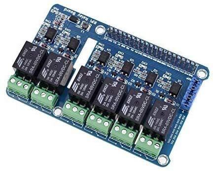 KASILU Dlb0216 6-Kanal-Raspberry-PI-Relais-Schirmmodul-Erweiterungsplatine für Raspberry Pi A + / B + / 2 B / 3b Hochleistung