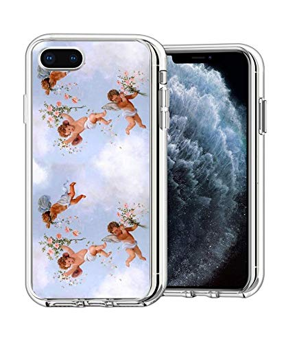 Pure Clear Anti-Scratch Motion for iPhone SE 2020/8/7 4.7' Cover Renaissance Angels Case