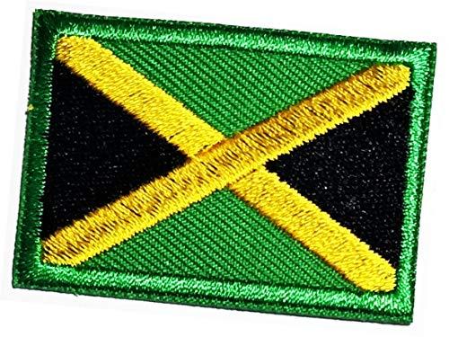 Mini Jamaika-Flagge bestickter Aufnäher Jamaika-Flagge Nationalemblem zum Aufbügeln oder Aufnähen, Militäruniform, Emblem, Logo, Jeans, Jacke, Polo, T-Shirt, Hut, Rucksäcke (05)