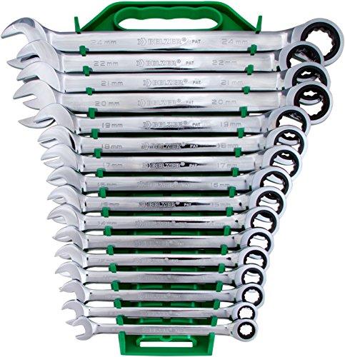 Jogo De Chaves Combinadas Belzer Verde 8-24mm