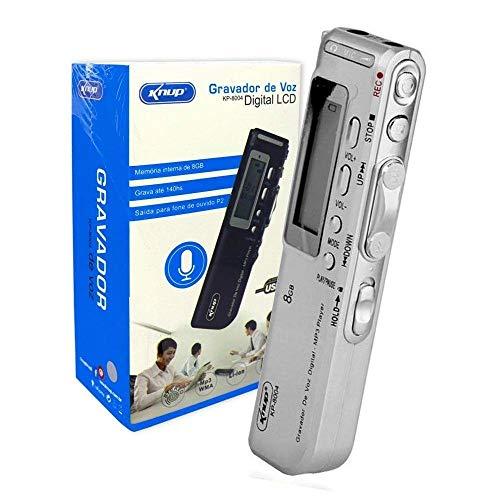Gravador de Voz Digital Espiao, 8GB com Fone de Ouvido e Escuta Telefonica Knup