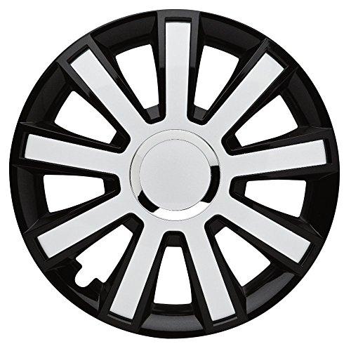 CM DESIGN Flash Black White–15pulgadas, apta para casi todas las Peugeot, por ejemplo para 106S1sin airbag lateral