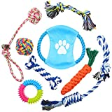 Hianjoo Grupo de Juguetes para Perros 8 Piezas, Juguete Circular de Limpieza de Dientes para Perros o Cachorros,...