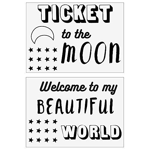 Atmosphera - Lot de 2 Stickers Kids de Porte Lune