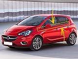 Embellecedor de marco de ventana de acero inoxidable cromado para Opel Corsa E 2015 en adelante. 6 unidades