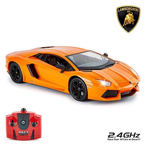 Lamborghini 114GLBO CMJ RC Cars Offiziell lizenzierte Fernbedienung 30 cm Größe 1:14 in Lambo Orange