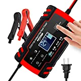 B-Qtech Battery Charger 12V 8Amp/24V 4Amp Automotive Smart Battery Maintainer for Car, Truck, Motorcycle, Lawn Mower, Boat, RV, SUV, ATV