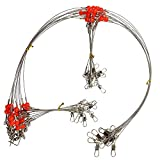 OROOTL Fishing Wire Trace Leader Rigs, 12pcs Stainless Steel 1-2 Arms Wire Fishing Leader Rigging High...