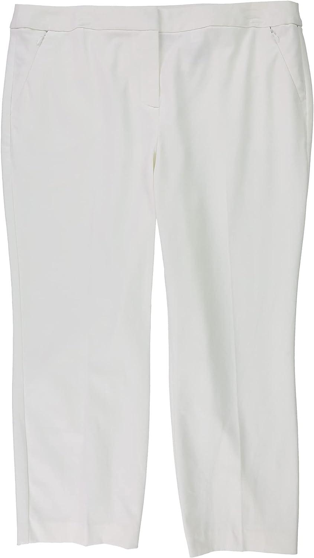 Alfani Womens Solid Casual Trouser Pants