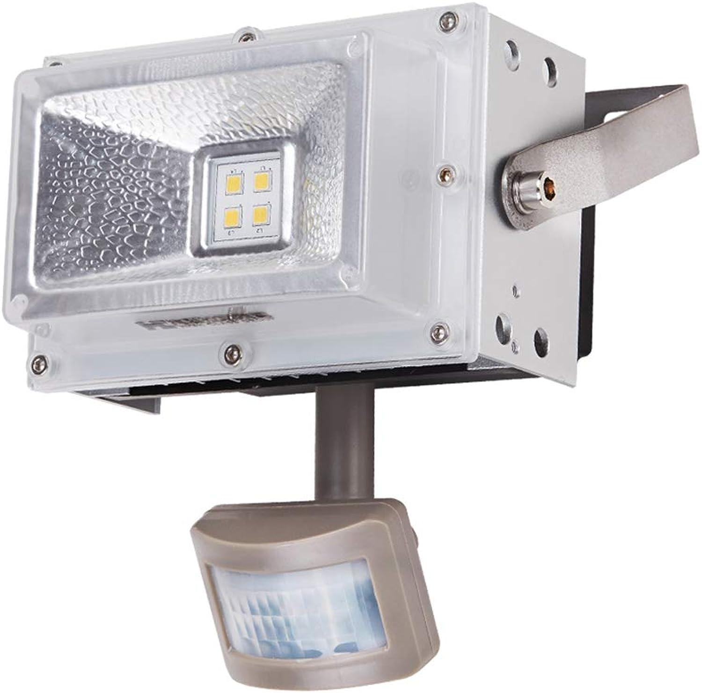 LED-Sicherheitslicht Im Freien, Wasserdichtes Timing-Bewegungssensor PIR Von Aluminium IP66 (Farbe   Weies Licht)