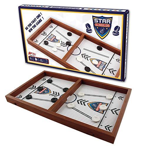 Sling Puck, Brettspiele Hockey, Air Hockey, Gesellschaftsspiel Erwachsene, Board games, Fast sling puck, Holz spiel, Tisch Hockey Brettspiel,