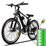 26 Zoll E-Bike Elektrofahrrad E-Mountainbike, Fahrrad Herren Damen mit Pedelec mit 250W Motor...