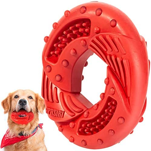 Dog Chew Toys for Aggressive Chewers Large Medium Breed Apasiri Natural Rubber Dog Toys Tough product image