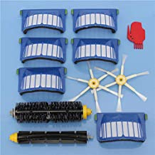 DORLIONA 11pcs Vacuum Cleaner Accessories Kit Filters and Brushes for iRobot Roomba 600 Series