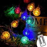Luce della stringa,Tececu luce decorativa esterna 50 Palla LED USB, Catene Luminose 5M con...