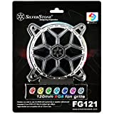 SilverStone Technology 120mm RGB LED Fan Guard / Grill for ASUS AURA SYNC / MSI Mystic Light Sync / ASROCK AURA RGB / BIOSTAR RACING and Others FG121