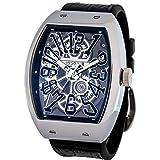 [フランク三浦] 十一号機 頑張るどモデル スケルトンウォッチ 腕時計 スケルトンブラック