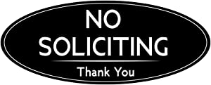 IGNIXIA No Soliciting Sign for House / Office, No Soliciting Sign 2