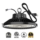 150W Led High Bay Light Bulb UFO 5000k,Dimmable 22500 Lumens ETL/DLC Listed(600W HID/HPS Equivalent) Bright White, Industrial Highbay Warehouse Light Fixtures, AC 90-277V Waterproof IP65 1Pack