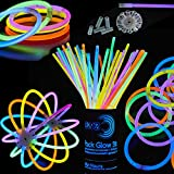 Glowz Glow Sticks Glow In The Dark Pulseras Premium (Colores Mezclados) 100 Pack - Accesorios de neón para niñas o niños