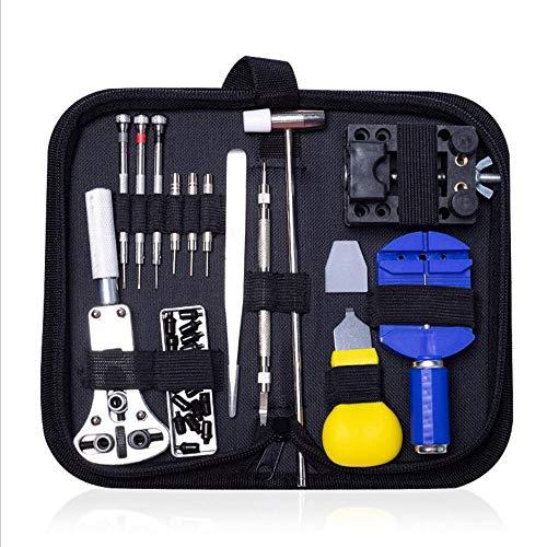AGKupel 31-teiliges Uhren-Reparatur-Set, Federsteg-Werkzeugtisch mit Oxford-Tuch-Verpackungstasche...
